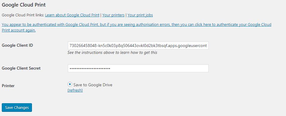 WooCommerce Google Cloud Print   Woocommerce Automatic Order Printing - 2