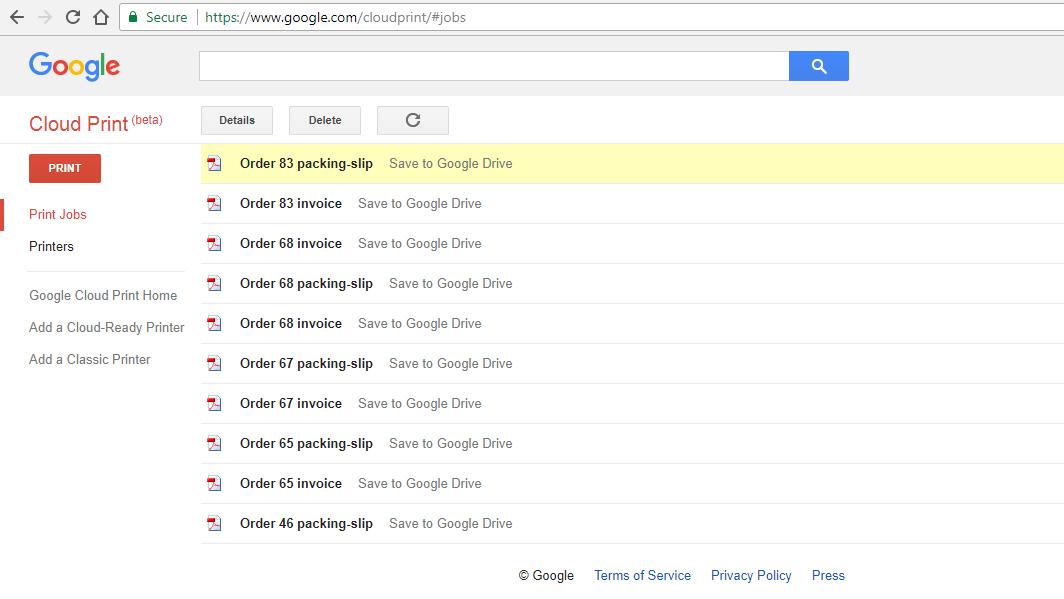 WooCommerce Google Cloud Print   Woocommerce Automatic Order Printing - 8