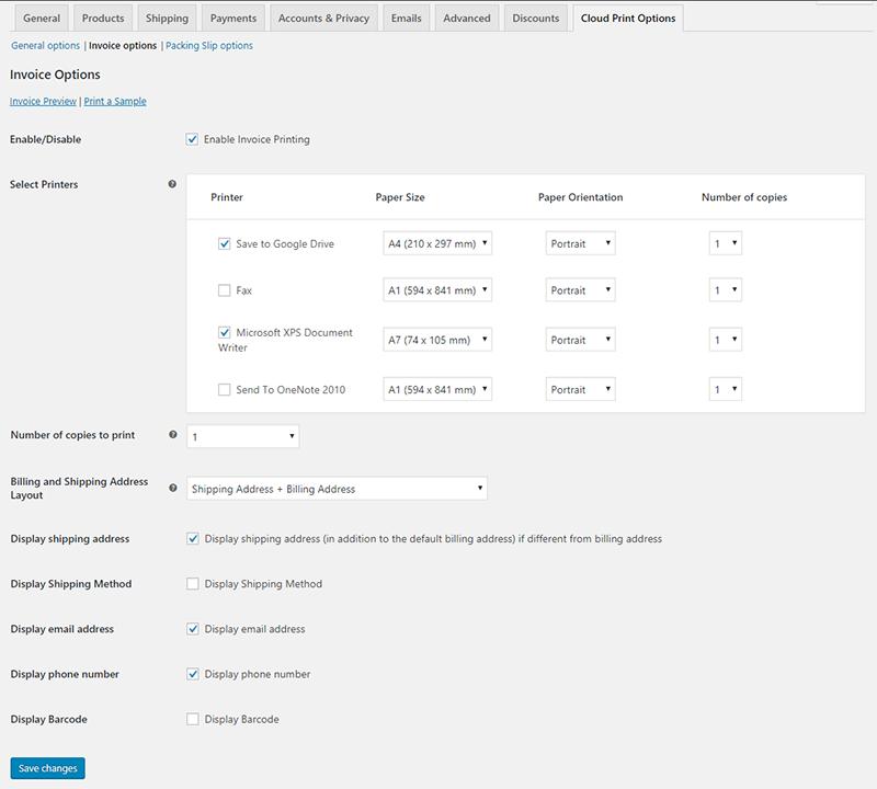 WooCommerce Google Cloud Print   Woocommerce Automatic Order Printing - 4