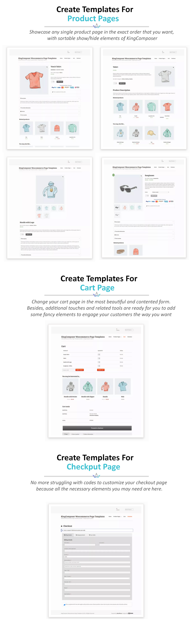 Ultimate Woocommerce Page Templates Builder | KingComposer add-on - 1