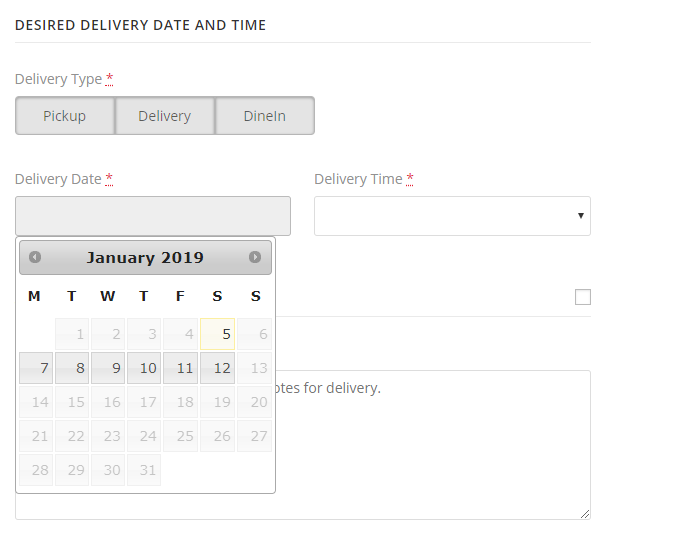 Ultimate Woocommerce Delivery and Pickup date time - 4