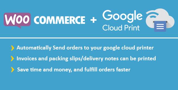 WooCommerce Google Cloud Print | Woocommerce commande automatique d'impression